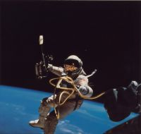 Astronauts take part in a Sunday spacewalk